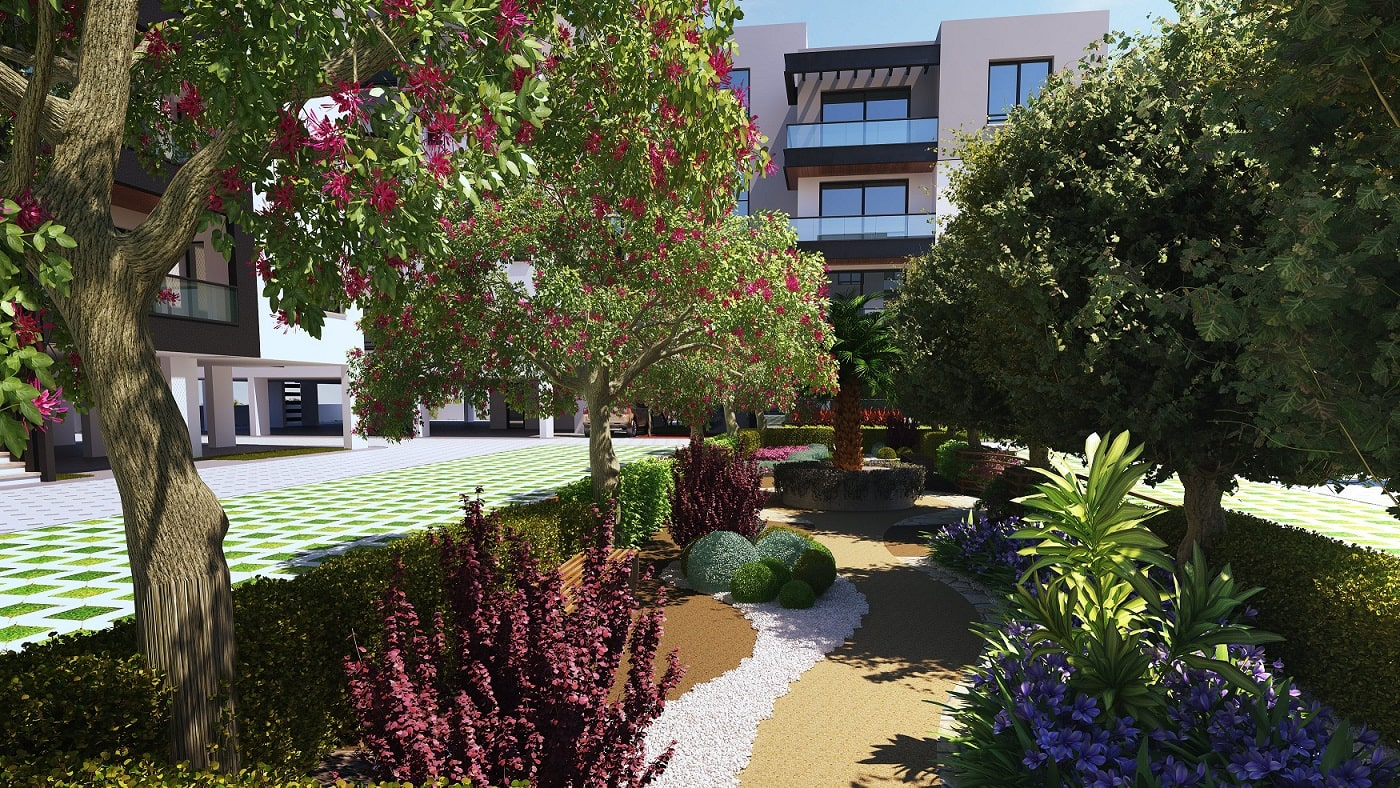White Lotus Development Akdeniz Sitesi Bahçe